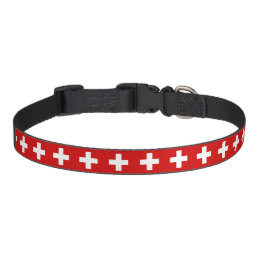 Switzerland flag quality pet collar
