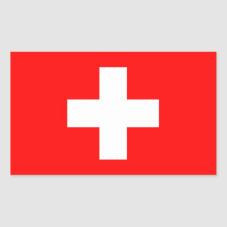 Switzerland Flag Rectangular Sticker