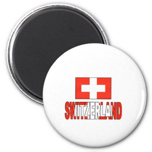 Switzerland flag refrigerator magnet