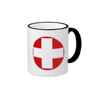 Switzerland Flag Ringer Mug