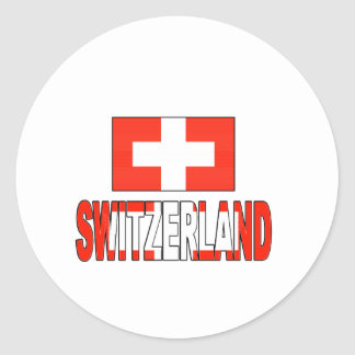 Switzerland flag round stickers