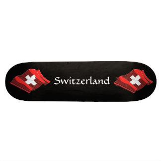 Switzerland Flag Skateboard