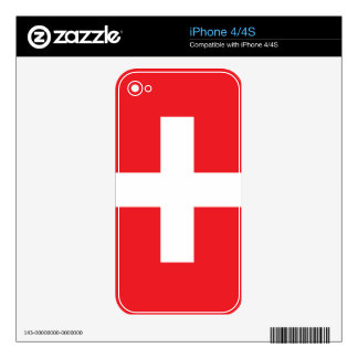 Switzerland Flag Skin For The iPhone 4S