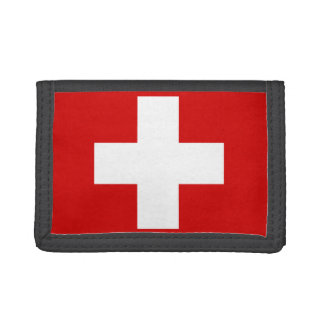 Switzerland Flag Tri-fold Wallet