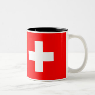 Switzerland Flag Two-Tone Coffee Mug