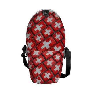 Switzerland Flag Urban Grunge Pattern Messenger Bag