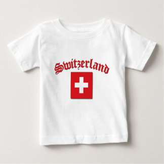 Switzerland Flag (w/inscription) Baby T-Shirt