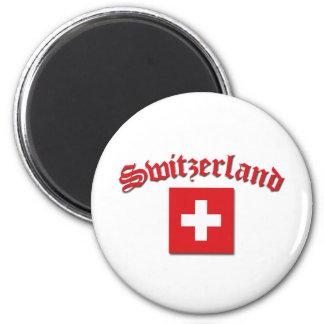 Switzerland Flag (w/inscription) Magnet