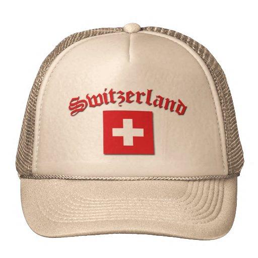 Switzerland Flag (w/inscription) Mesh Hat