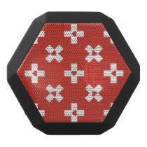 Switzerland Flag with  Heart pattern Black Bluetooth Speaker