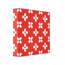 Switzerland Flag with  Heart pattern Canvas Print