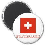Switzerland Flag with Name Fridge Magnets