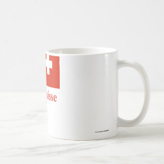 Switzerland Flag with Name in French Coffee Mug