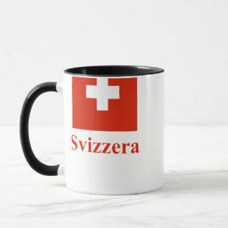 Switzerland Flag with Name in Italian Mug