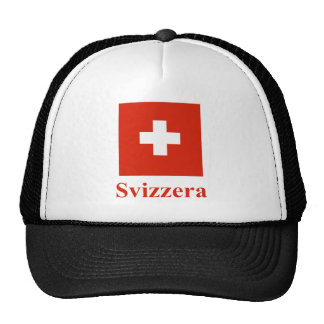 Switzerland Flag with Name in Italian Trucker Hat