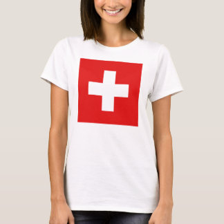 Switzerland Flag x Map T-Shirt