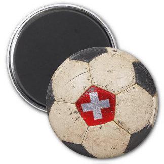 Switzerland Football 2 Inch Round Magnet