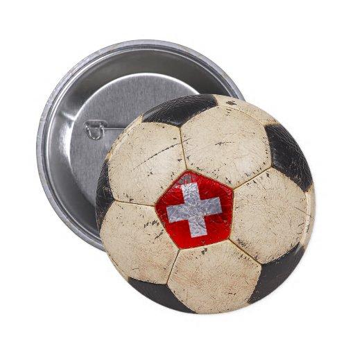 Switzerland Football Pinback Buttons