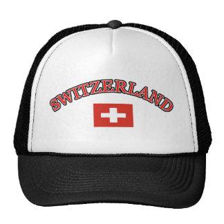 Switzerland football design trucker hat