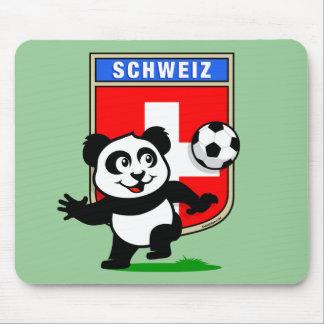 Switzerland Football Panda Mouse Pad