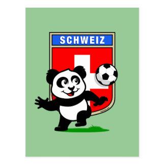 Switzerland Football Panda Postcard