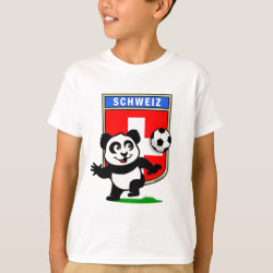 Swiss Football Panda Kids' Hanes TAGLESS® T-Shirt