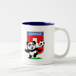Two-Tone Mug with Swiss Football Panda design