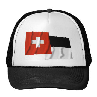 Switzerland & Fribourg Waving Flags Trucker Hats