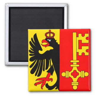 Switzerland Geneva Flag Fridge Magnet