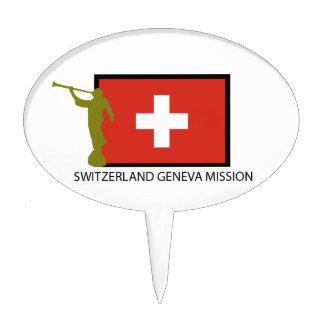 SWITZERLAND GENEVA MISSION LDS CTR CAKE PICKS