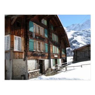 Switzerland, Gimmelwald, Traditional chalet Postcard