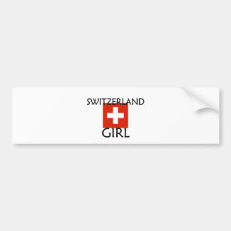 SWITZERLAND GIRL BUMPER STICKER