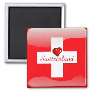 Switzerland glossy flag magnet