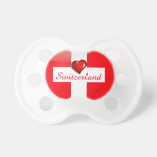 Switzerland glossy flag pacifier