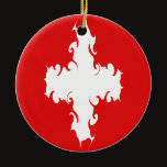 Switzerland Gnarly Flag Ceramic Ornament