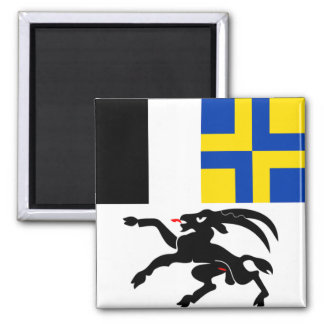Switzerland Graubünden Flag Fridge Magnet