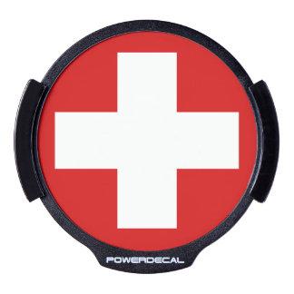 Switzerland LED Window Decal