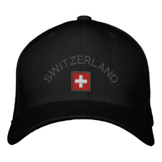Switzerland Hat With Swiss Flag