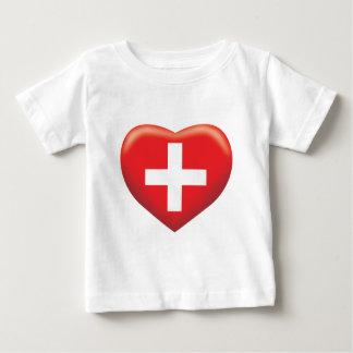 Switzerland Heart Baby T-Shirt