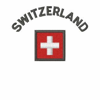 Switzerland Hoodie With Swiss Pocket Flag