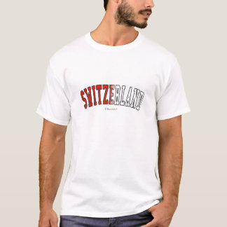 Switzerland in national flag colors T-Shirt