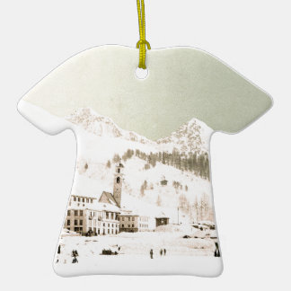 Switzerland in winter Double-Sided T-Shirt ceramic christmas ornament