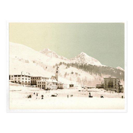 Switzerland in winter postcards