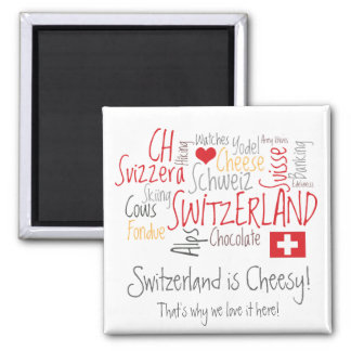 Switzerland is Cheesy: For Fondue Lovers! Refrigerator Magnets