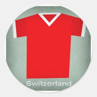 Switzerland.jpg Pegatina Redonda