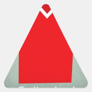 Switzerland.jpg Pegatina Triangular
