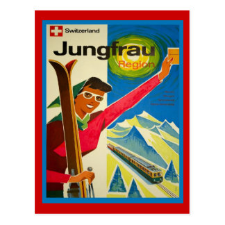 Switzerland jungfrau region postcard