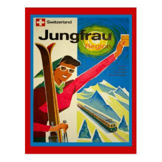 Switzerland jungfrau region post card