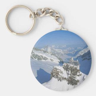 Switzerland, Jungfraujoch, top of Europe Basic Round Button Keychain
