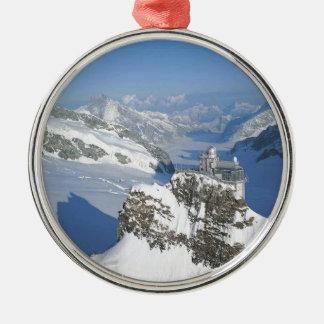 Switzerland, Jungfraujoch, top of Europe Metal Ornament